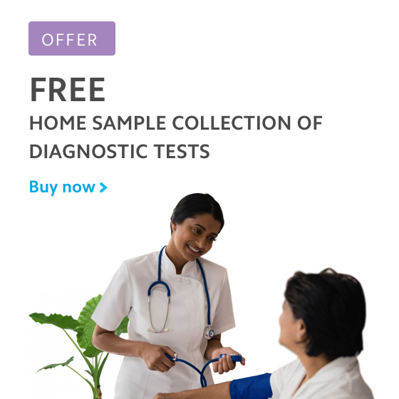 Free home sample collection of diagnostic tests