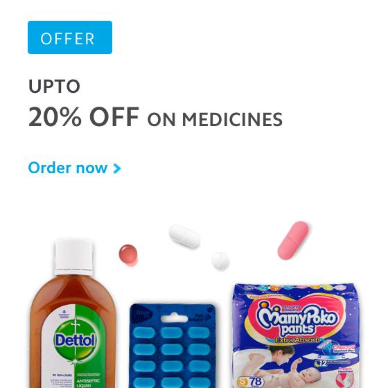 Upto 20% off on medicines