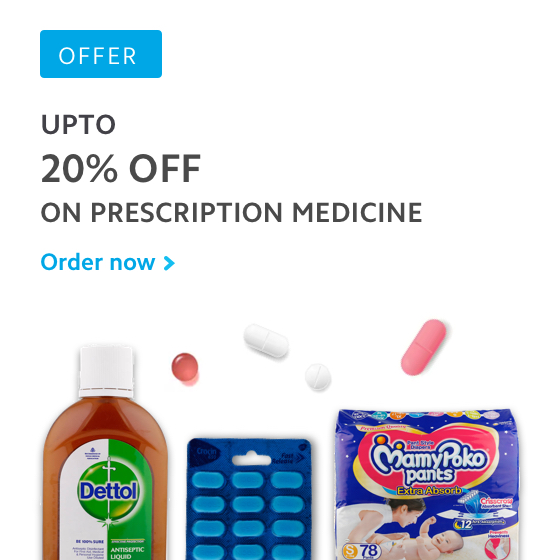 Upto 20% off on prescription medicine