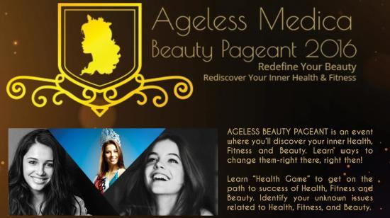 Golden Opportunity to Participate in a Ageless Medica Beauty Pageant Grand Event on 23 Oct 2016