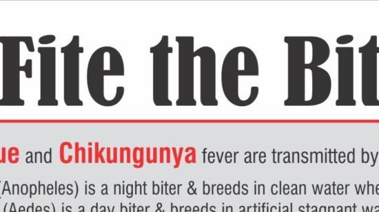 Lets Fite the Bite - Be Careful With Dengue, Malaria and Chikungunia