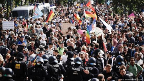 Crowds Protest Curbs in Berlin- pic courtesy dw.com