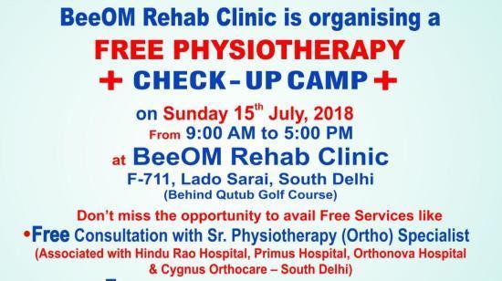 Free Physiotherapy Camp - Malviya Nagar / Saket