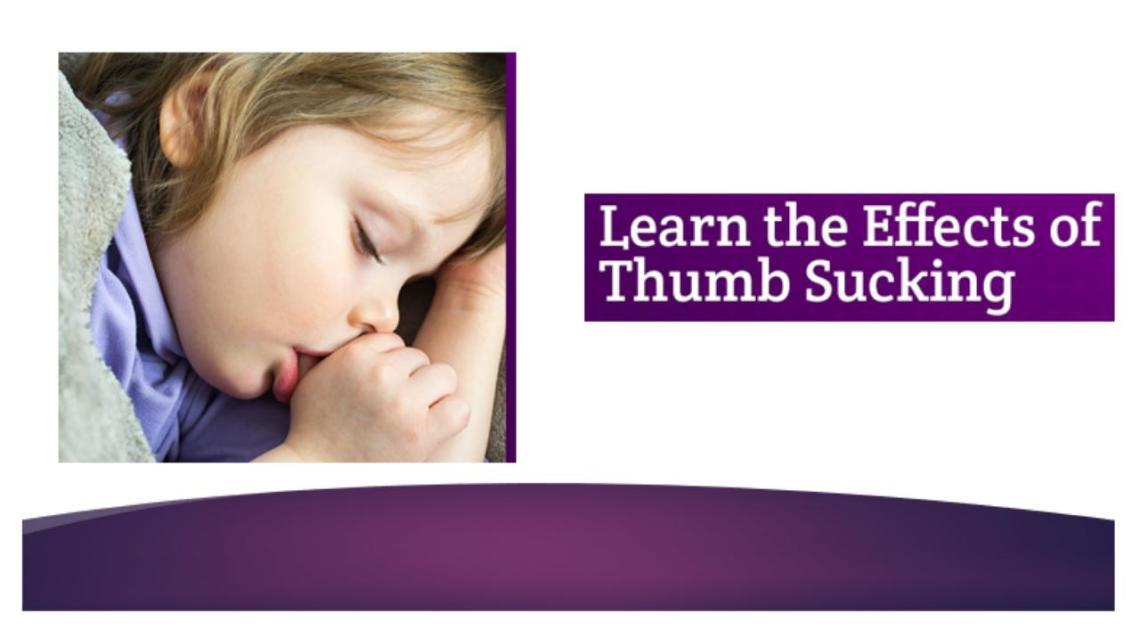 Is Thumbsucking a Problem ? Get to Know More by dr.ratnika Agarwal