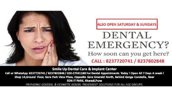 Suffering From Extreme Toothache or Looking for Emergency Dental Care in Pune ?