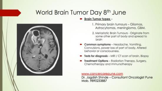 World Brain Tumour Day 8th June