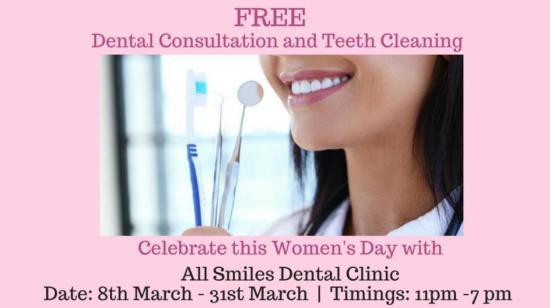Free Dental Consultation and Teeth Cleaning for Women