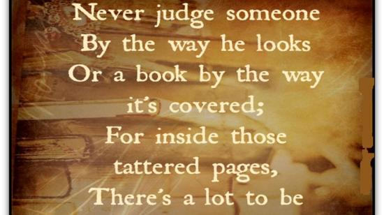 Never Judge a Book by Its Cover!