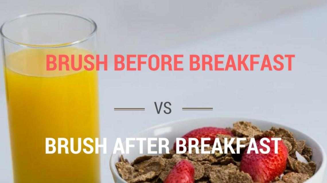 Do You Brush Your Teeth Before Breakfast or After?