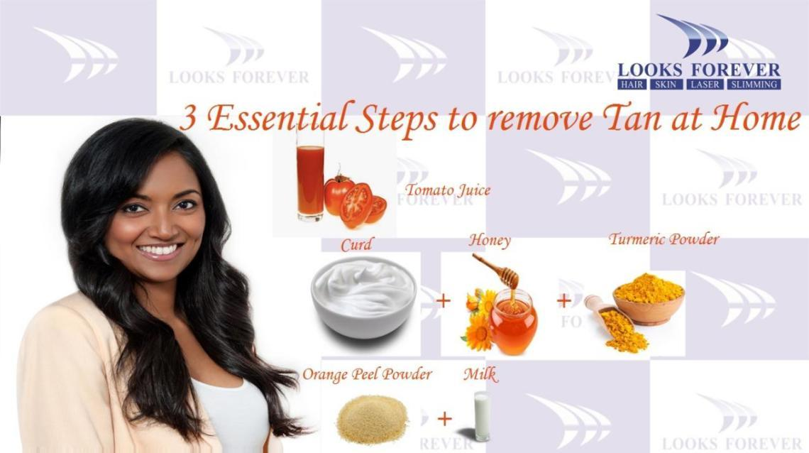 3 Essential Steps to Remove Tan at Home
