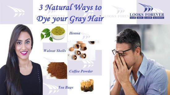 3 Natural Ways to Dye Your Gray Hair