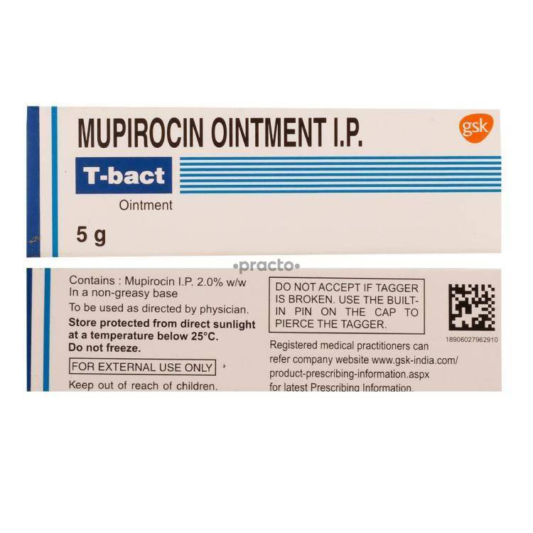 T BACT Ointment 5GM