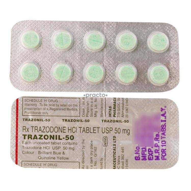 TRAZONIL 50MG Tablet 10`S