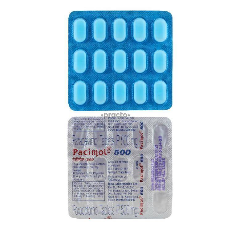 PACIMOL 500MG Tablet 15`S