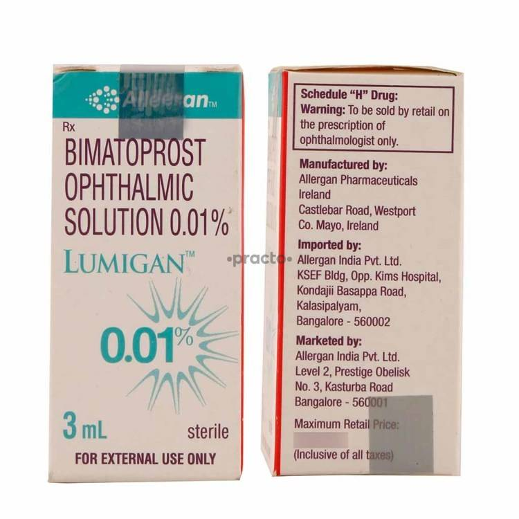 Lumigan 001 Eye Drops Uses Dosage Side Effects Price