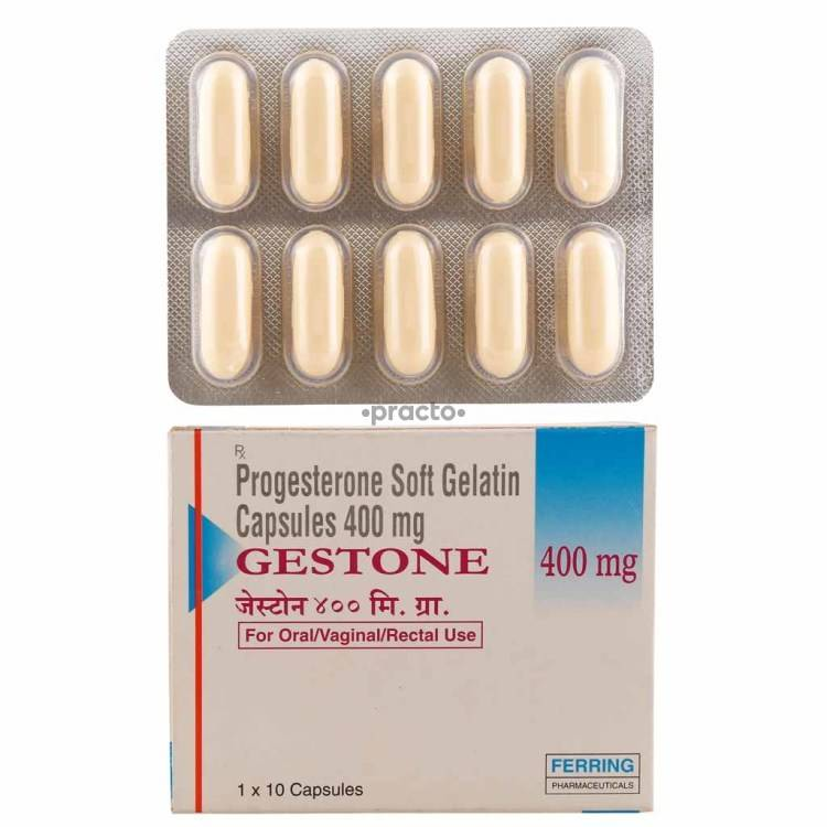 gestone 400 mg capsule uses dosage side effects price