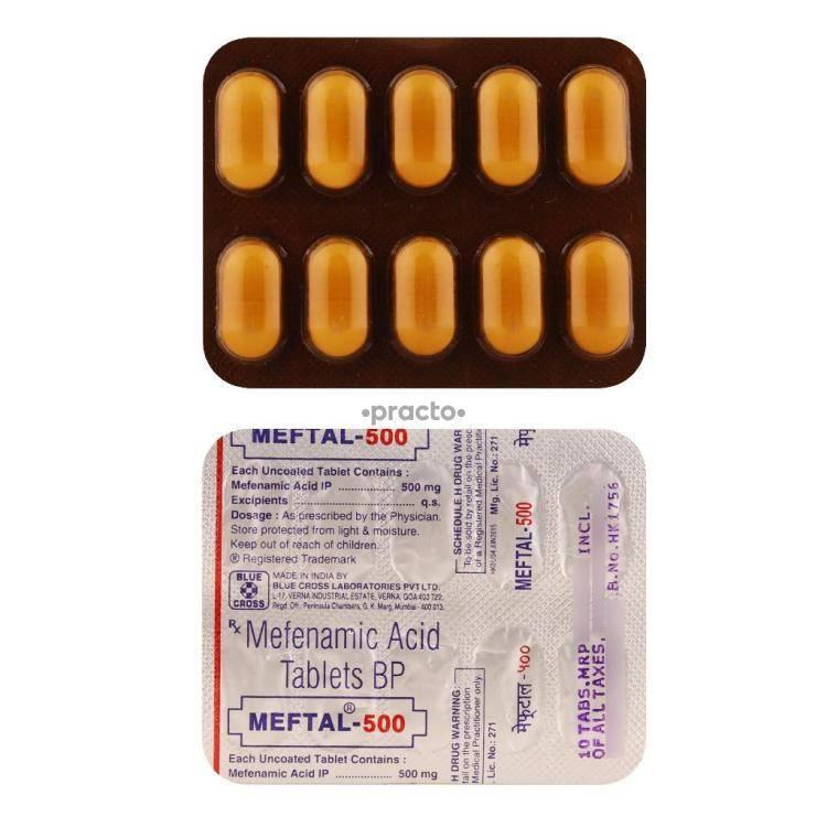 MEFTAL 500MG Tablet 10`S