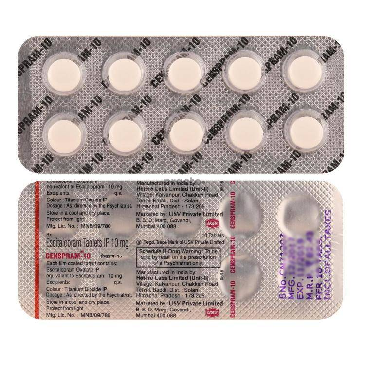 Censpram 10 MG Tablet - Uses, Dosage, Side Effects, Price