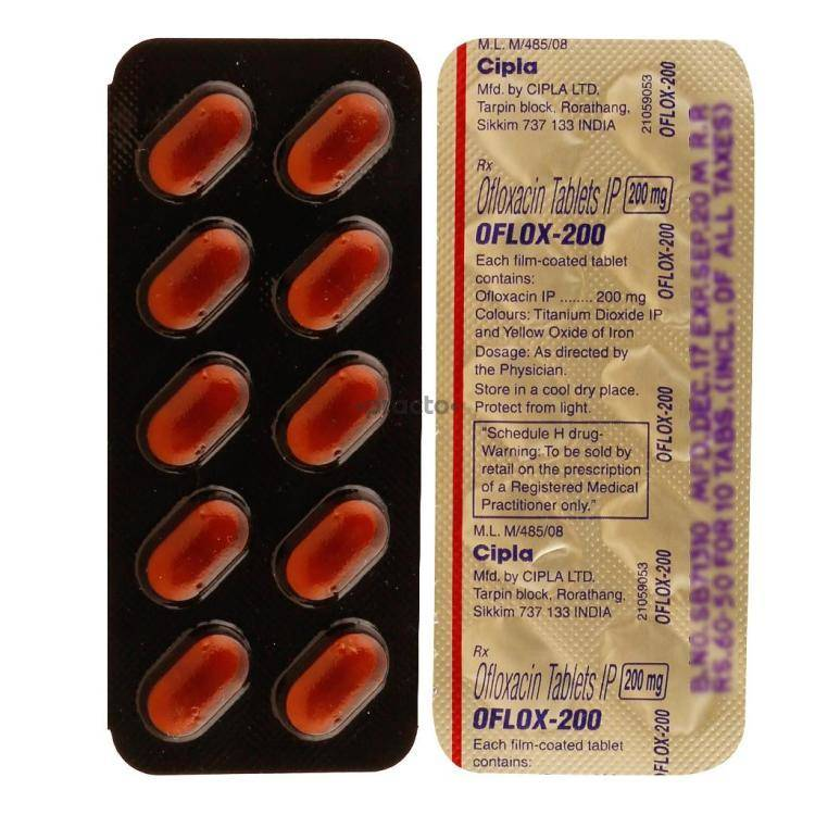 OFLOX 200MG Tablet 10`S