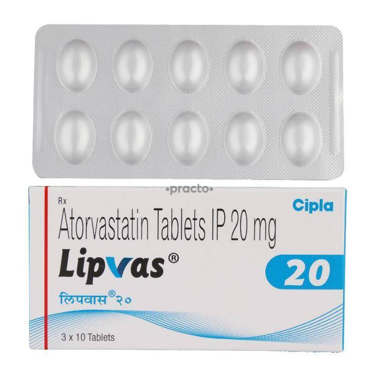 lipvas 20 mg tablet uses dosage side effects price composition