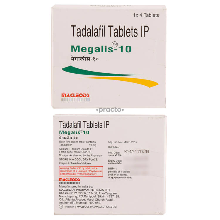 MEGALIS 10MG Tablet 4`S