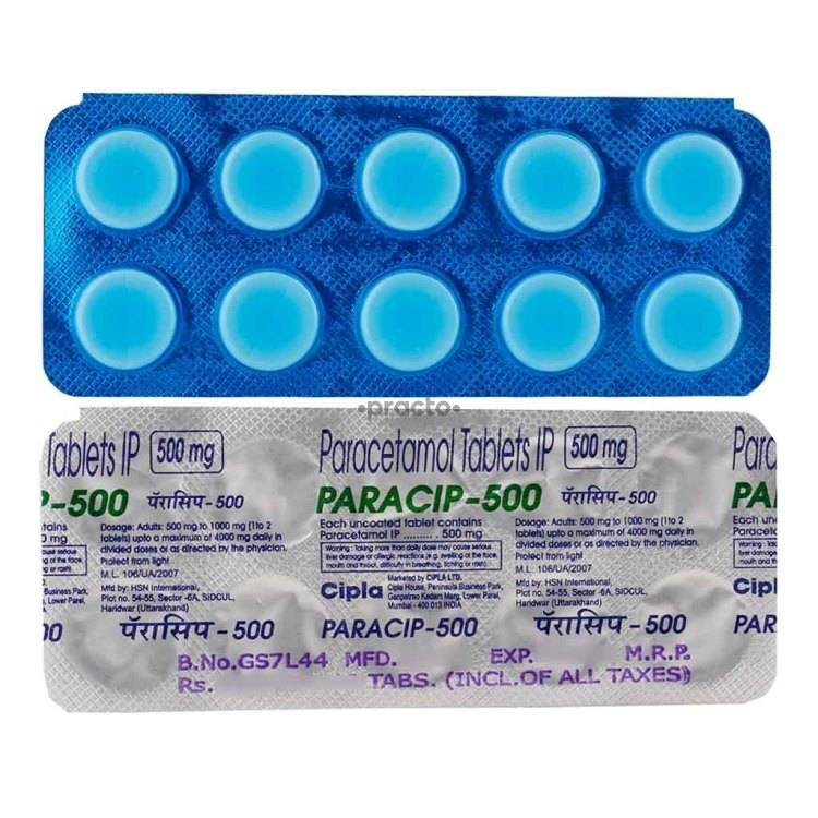 PARACIP 500MG Tablet 10`S