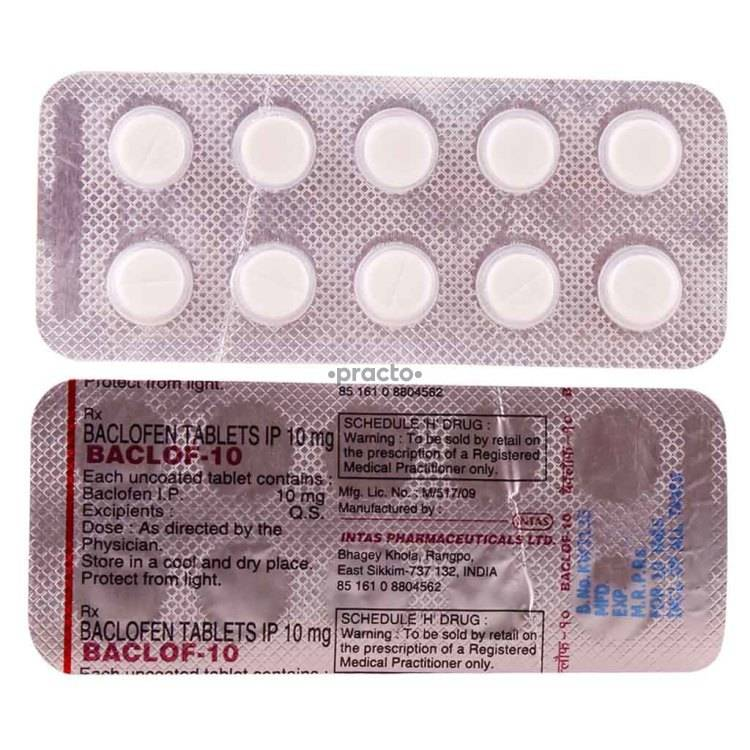 BACLOF 10MG Tablet 10`S