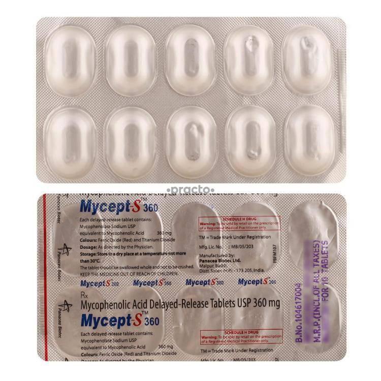 MYCEPT S 360MG Tablet 10`S