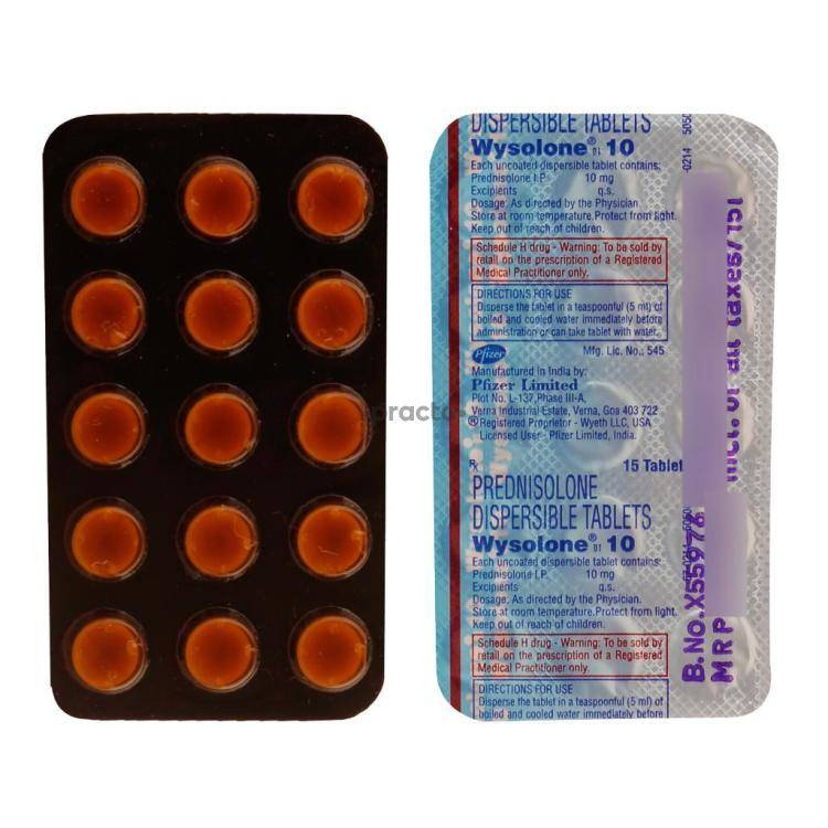 WYSOLONE 10MG Tablet 15`S