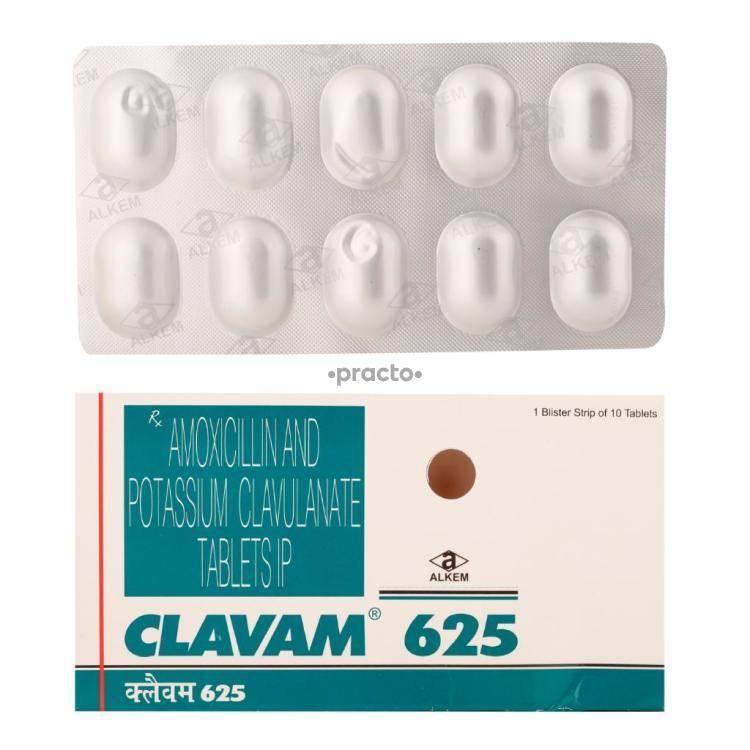 CLAVAM 625MG Tablet 10`S