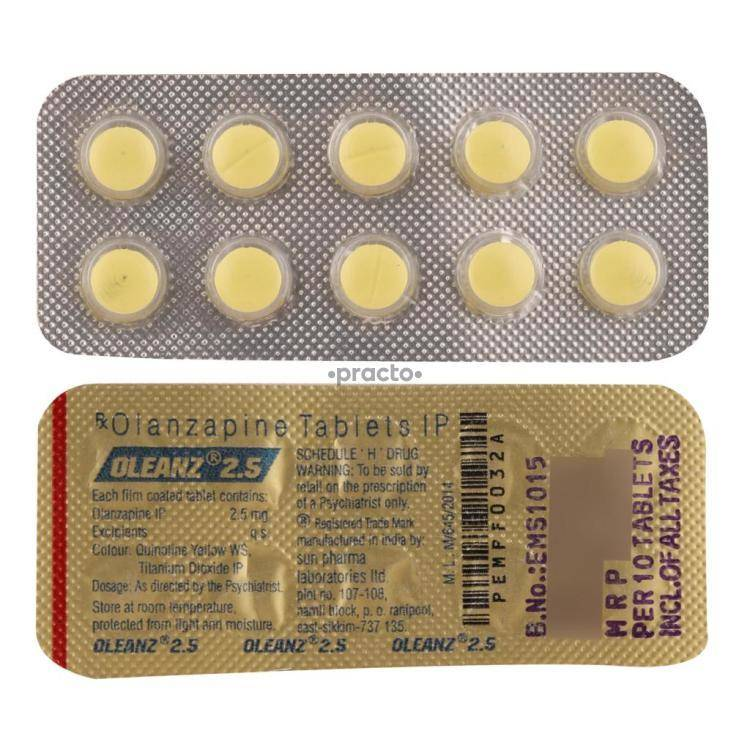 OLEANZ 2 5MG Tablet 10`S