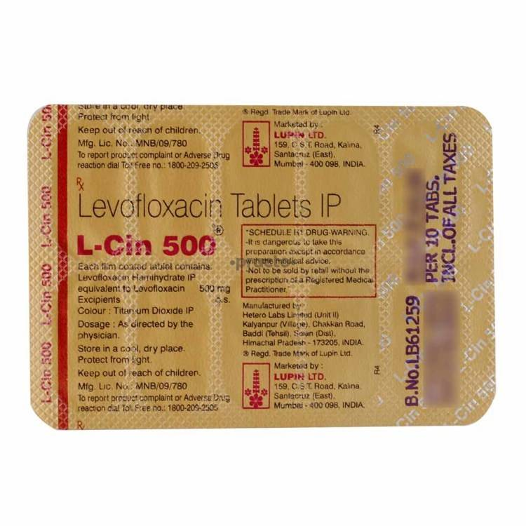 L Cin 500 Mg Tablet Uses Dosage Side Effects Price Composition