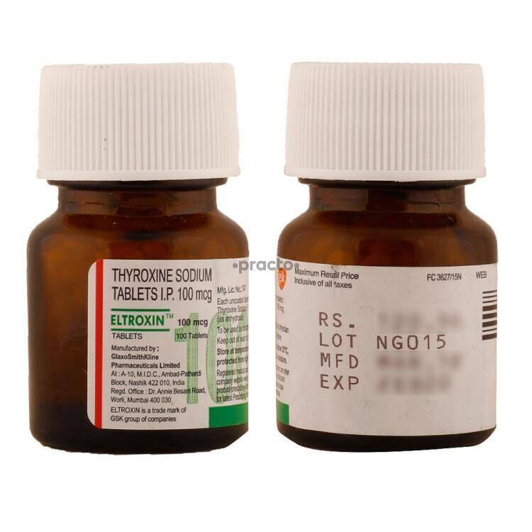 Eltroxin 100 Mcg Tablet Uses Dosage Side Effects Price