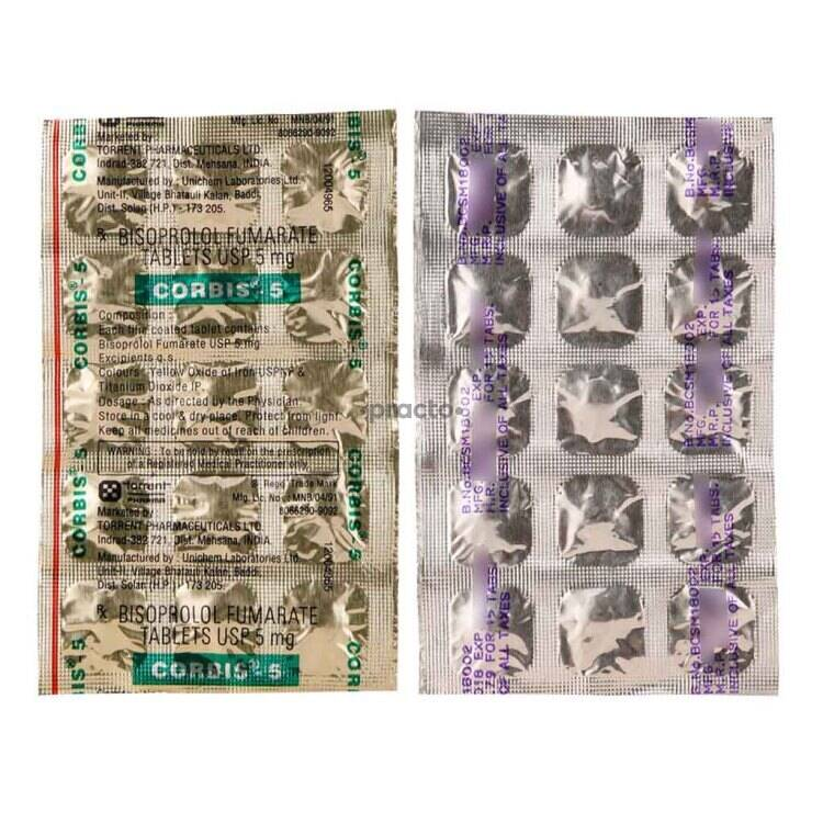 Corbis 5 Mg Tablet Uses Dosage Side Effects Price Composition Practo