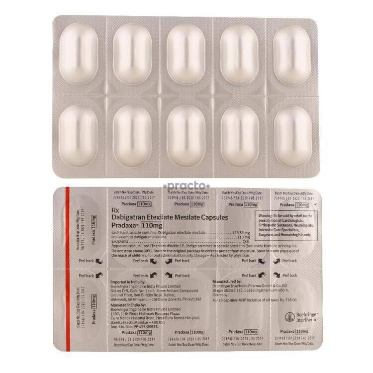 Pradaxa 75 mg aspirin