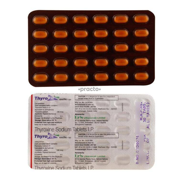 Thyrofit 100mcg Tablet Uses Dosage Side Effects Price