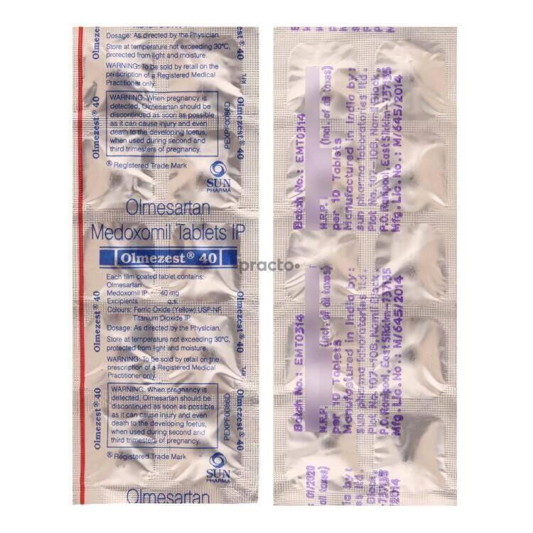 Olmezest h 20 mg or 12.5 mg micrograms