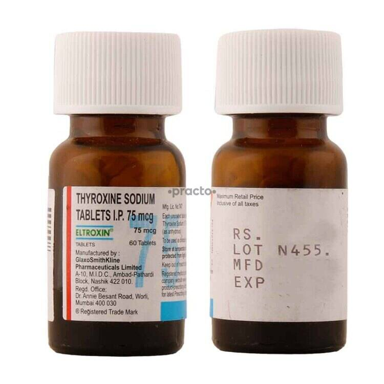 Eltroxin 75 Mcg Tablet Uses Dosage Side Effects Price